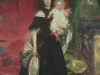 K.Bryullov, Portrait of A.A.Bek with a daughter, from Dark lantern