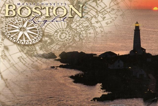 Boston light in a sunset