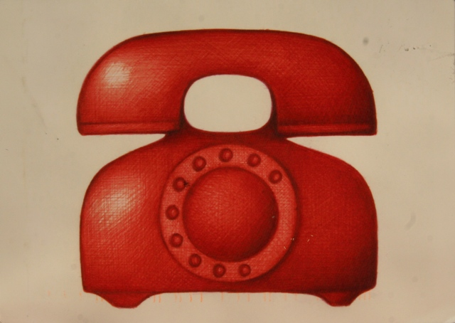 just a red telephone from USA