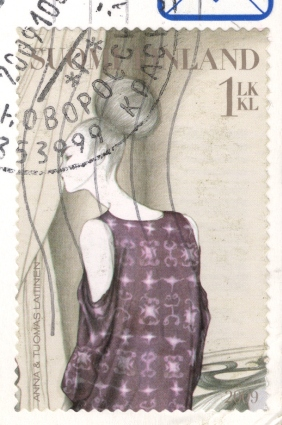 stamp-finnish-girl