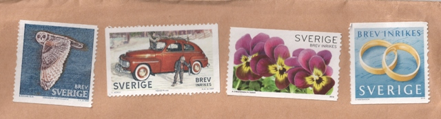 sweden-stamps-on-the-envelope