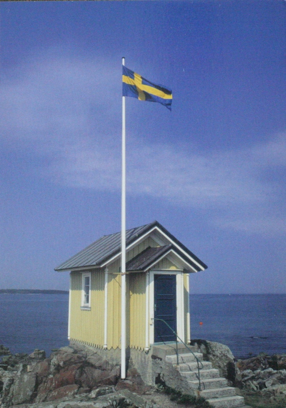 Sea view and the Swedish flag, from MerJade